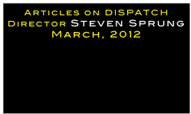 Articles on DISPATCH